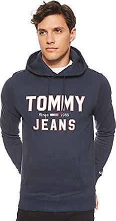 Tommy Hilfiger Straight Logo Hooded Sweatshirt Black Iris