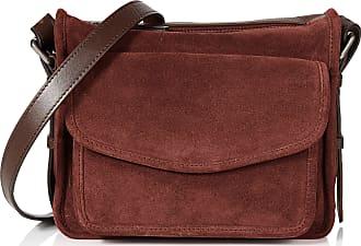 Hotter Womens Lois Cross-Body Bag Multicolour (Maroon-Chocolate)