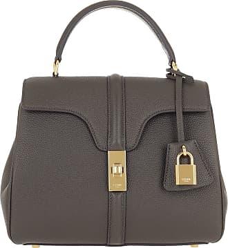 Celine 16 Bag Small Grained Leather Grey Umhängetasche grau