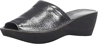 Kenneth Cole Reaction Womens Fine Mule Platform Slide Sandal Wedge, Pewter 8.5 M US
