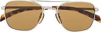 David Beckham Óculos de sol quadrado - Prateado