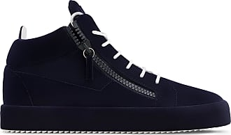 Giuseppe Zanotti Unfinished Collection: Dark blue mid-top sneaker THE UNFINISHED