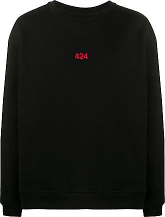 424 Sweatshirt mit Logo-Print - Schwarz