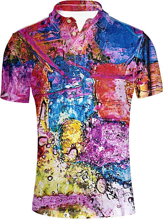 Hugs Idea Mens Classic Pique Polos Shirts Multi Colorful Tshirt Summer Short Sleeve