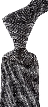 Kiton Ties On Sale, Anthracite Melange, Silk, 2017, one size