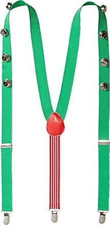 Wembley Mens Holiday Party Suspenders, Green, One Size