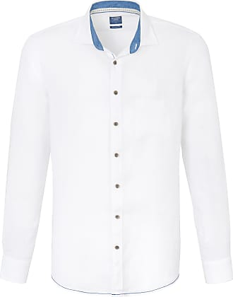 Olymp Shirt made of 100% linen Olymp white