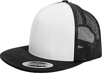 Yupoong Flexfit Unisex Classic Trucker Snapback Cap (One Size) (Black/White/Black)