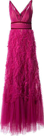Marchesa ruffled tulle gown - Pink