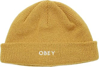 Obey Rollup Beanie Golden Palm 1 Size Yellow