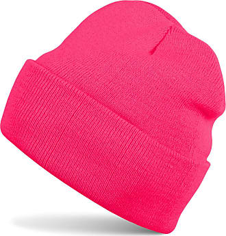 styleBREAKER Classic Beanie Knit hat, Warm fine Knit hat, Unisex 04024029, Color:Neon Pink