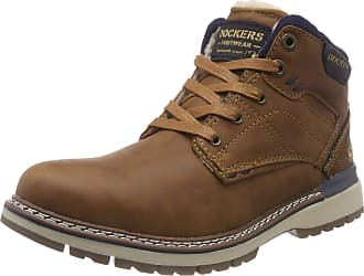 Dockers by Gerli 43ad101, Mens Combat Boots Combat Boots, Brown (Cognac 470), 8 UK (42 EU)