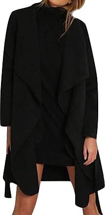 JERFER Women Ladies Long Sleeve Cardigan Coat Suit Top Open Front Jacket Outwear Autumn Winter Coat Jacket Black