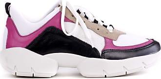 MYA haas Tênis Edge Couro Tendência Dad Sneaker Pink 36