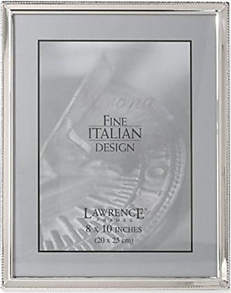 Lawrence Frames Polished Silver Plate 8x10 Picture Frame - Bead Border Design