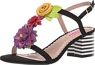 Betsey Johnson Womens ADDE Heeled Sandal Black/Multi 7 M US