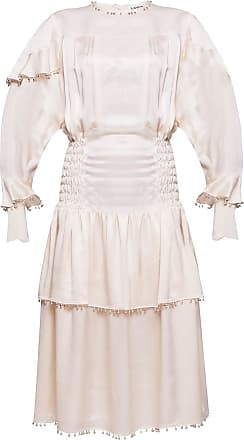 Lanvin Silk Dress Womens Cream