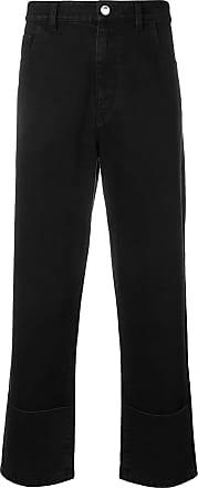 Raf Simons Calça jeans cropped - Preto