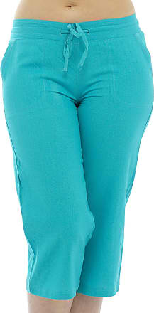 Tom Franks Womens Relaxed Trousers Turquoise turquoise UK 10
