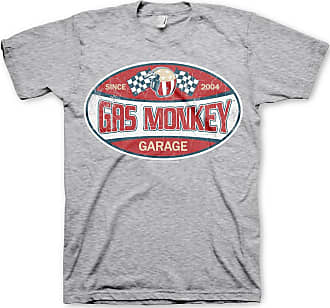 Gas Monkey Garage Officially Licensed Merchandise GMG Since 2004 Label T-Shirt (Heather Grey), XX-Large