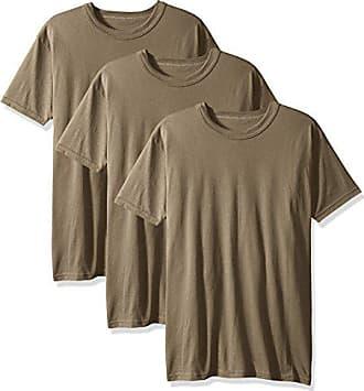86e9b6052 Soffe Mens 3-Pack Short Sleeve Crew Neck Military T-Shirt, Tan,