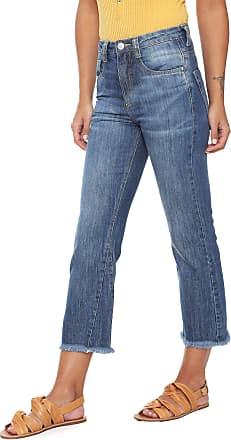Oh, Boy! Calça Jeans OH BOY Reta Desfiada Azul