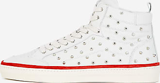 The Kooples Studded white leather trainers - WOMEN