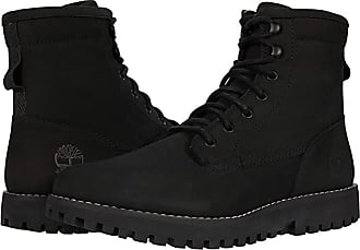 leather black timberlands