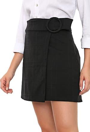 Vero Moda Saia Vero Moda Curta Textura Preta