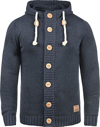 Solid Peer Mens Hooded Jacket Zip, Size:M, Colour:Insignia Blue Melange (8991)