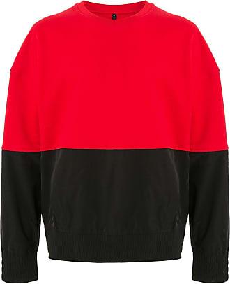 Blackbarrett Moletom color block de algodão - Vermelho