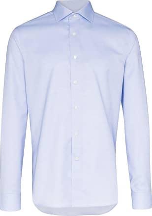 Canali Camisa de algodão - Azul