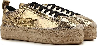 Alexander McQueen Sneakers for Women On Sale in Outlet, Gold, Patent, 2017, 9