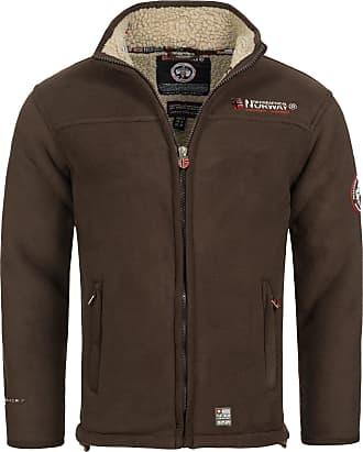 Geographical Norway Ureka Mens Fleece Jacket, Warm, Teddy Fur Lining, Size S - XXXL. - Brown - XX-Large