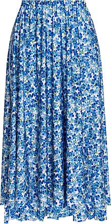 VETEMENTS Patterned Skirt Womens Blue