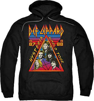 Popfunk Def Leppard Hysteria Tour Unisex Adult Pull-Over Hoodie for Men and Women Black