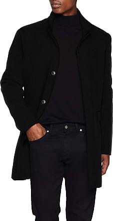 Selected Mens Slhmosto Wool Coat B Noos, Black (Black Detail:Twill), Small