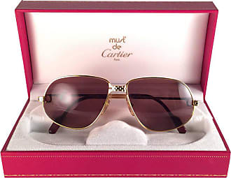 7fa20e48696 Cartier New Vintage Cartier Panthere 59mm Medium Sunglasses France 18k Gold Heavy  Plated