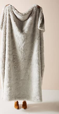 Anthropologie Fireside Faux Fur Throw Blanket