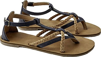 Rip Curl Anouk Women,Strappy Sandals,Ladies,Leatherlook,Blue/Sand,6.5 UK,40 EU