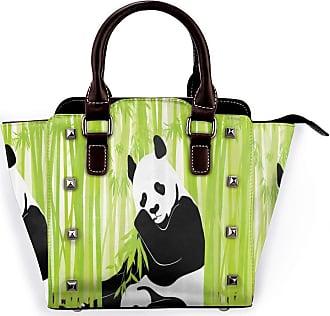 Browncin Panda Bear In Bamboo Forest Jungle Oriental Nature Wildlife Tropic Cartoon Art Detachable Fashion Trend Ladies Handbag Shoulder Bag Messenger Bags