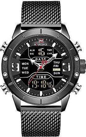 NAVIFORCE Relógio Masculino Naviforce NF9153 BB Pulseira em Aço Inoxidável - Preto