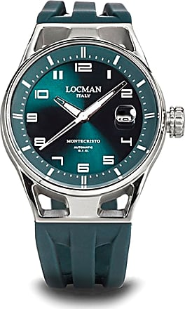 Locman Watch for Men, Green, Stainless Steel, 2017, One Size