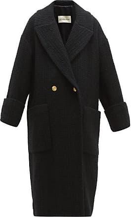 Alexandre Vauthier Double-breasted Wool-blend Tweed Coat - Womens - Black