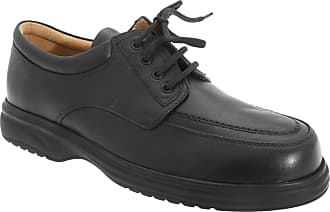 Roamers Mens Superlite Wide Fit Mudguard Tie Leather Shoes (13 UK) (Black)