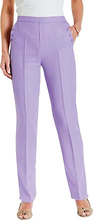 Chums Ladies Womens Linen Look Trouser Lilac 14W x 27L
