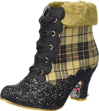 Irregular Choice Womens Fancy A Cuppa Ankle Boots, (Black/Tan B), 5 (38 EU)