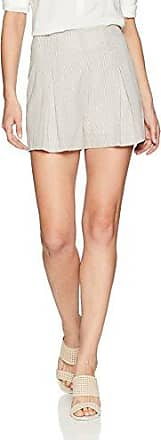 BCBGMAXAZRIA Womens Renee Belted Striped Shorts