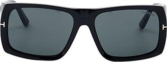 Tom Ford Eyewear Óculos de Sol Retangular Preto - Mulher - 61 US