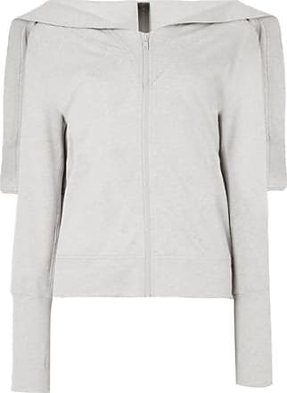 Norma Kamali Striped Stretch-cotton Jersey Hoodie - Gray